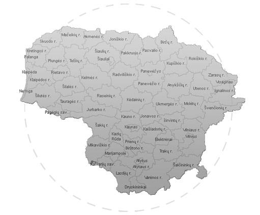 Aptarnaujamas regionas
