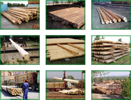 Medinių stulpų prekyba